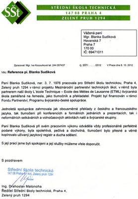 FRANCOUZŠTINA Mgr. Blanka SUDÍKOVÁ - Soudní překladatelka a tlumočnice - Praha 7 - ilustrační foto