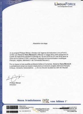 Doporučení od francouzské překladatelské agentury LinguaForce
